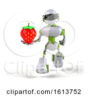 November 12th, 2018: Clipart Of A 3d Green And White Robot On A White Background Royalty Free Illustration by Julos
