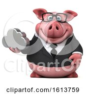 November 12th, 2018: Clipart Of A 3d Chubby Business Pig On A White Background Royalty Free Illustration by Julos