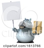 November 11th, 2018: Clipart Of A 3d Chubby White Horse On A White Background Royalty Free Illustration by Julos