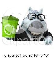 November 12th, 2018: Clipart Of A 3d Chubby White Business Horse On A White Background Royalty Free Illustration by Julos