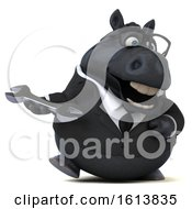 November 12th, 2018: Clipart Of A 3d Chubby Black Business Horse On A White Background Royalty Free Illustration by Julos