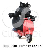November 12th, 2018: Clipart Of A 3d Chubby Black Horse On A White Background Royalty Free Illustration by Julos