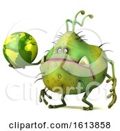 November 12th, 2018: Clipart Of A 3d Green Germ Monster On A White Background Royalty Free Illustration by Julos