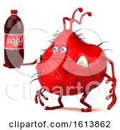 November 10th, 2018: Clipart Of A 3d Red Germ Monster On A White Background Royalty Free Illustration by Julos