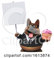 November 12th, 2018: Clipart Of A 3d Business German Shepherd Dog On A White Background Royalty Free Illustration by Julos