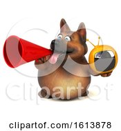 November 12th, 2018: Clipart Of A 3d German Shepherd Dog On A White Background Royalty Free Illustration by Julos