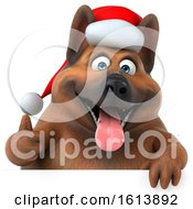 November 10th, 2018: Clipart Of A 3d Christmas German Shepherd Dog On A White Background Royalty Free Illustration by Julos