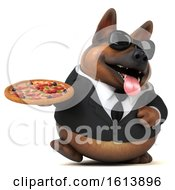 November 10th, 2018: Clipart Of A 3d Business German Shepherd Dog On A White Background Royalty Free Illustration by Julos
