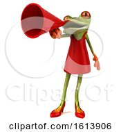 Clipart Of A 3d Green Female Frog On A White Background Royalty Free Illustration