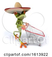 Clipart Of A 3d Green Mexican Frog On A White Background Royalty Free Illustration by Julos