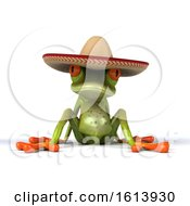 November 13th, 2018: Clipart Of A 3d Green Mexican Frog On A White Background Royalty Free Illustration by Julos