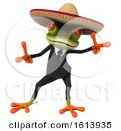 November 13th, 2018: Clipart Of A 3d Green Mexican Business Frog On A White Background Royalty Free Illustration by Julos
