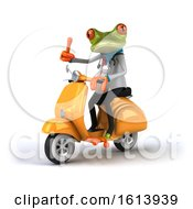 Clipart Of A 3d Green Doctor Frog On A White Background Royalty Free Illustration