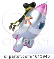 November 10th, 2018: Clipart Of A 3d Green Female Frog On A White Background Royalty Free Illustration by Julos