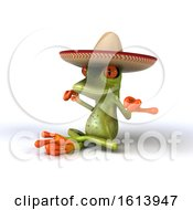 Clipart Of A 3d Green Mexican Frog On A White Background Royalty Free Illustration