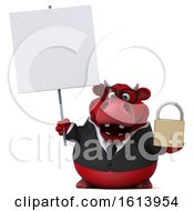 November 10th, 2018: Clipart Of A 3d Red Business Bull On A White Background Royalty Free Illustration by Julos