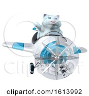Clipart Of A 3d White Kitty Cat On A White Background Royalty Free Illustration