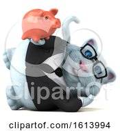 Clipart Of A 3d White Business Kitty Cat On A White Background Royalty Free Illustration