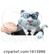 November 10th, 2018: Clipart Of A 3d White Business Kitty Cat On A White Background Royalty Free Illustration by Julos