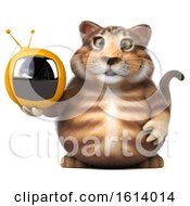 November 12th, 2018: Clipart Of A 3d Tabby Kitty Cat On A White Background Royalty Free Illustration by Julos