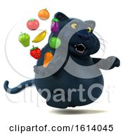November 12th, 2018: Clipart Of A 3d Black Kitty Cat On A White Background Royalty Free Illustration by Julos