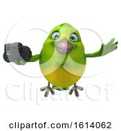 November 10th, 2018: Clipart Of A 3d Green Bird On A White Background Royalty Free Illustration by Julos