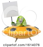 Clipart Of A 3d Green Bird On A White Background Royalty Free Illustration