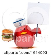 November 10th, 2018: Clipart Of A 3d Chubby Red Bird Sailor On A White Background Royalty Free Illustration by Julos