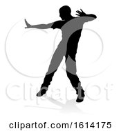 Poster, Art Print Of Street Dance Dancer Silhouette On A White Background