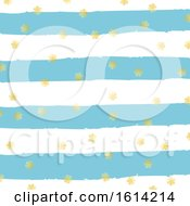 Gold Christmas Snowflakes On Grunge Stripe Background