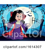 Clipart Of A Vampiress By Gates Royalty Free Vector Illustration
