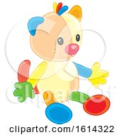 Clipart Of A Kitty Cat Kids Toy Royalty Free Vector Illustration
