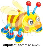 Clipart Of A Bee Kids Toy Royalty Free Vector Illustration