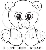 Lineart Teddy Bear Toy