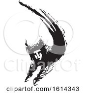 Clipart Of A Leaping Cat Person Royalty Free Vector Illustration