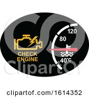 Clipart Of A Check Engine Dashboard Light Royalty Free Vector Illustration