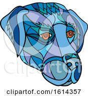 Clipart Of A Low Polygon Labrador Retriever Dog Mascot Head Royalty Free Vector Illustration