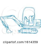 Blue Mechanical Digger Machine