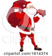 Clipart Of Santa Waving Royalty Free Vector Illustration