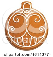 October 21st, 2018: Clipart Of A Christmas Bauble Gingerbread Cookie With Icing Royalty Free Vector Illustration by Vector Tradition SM