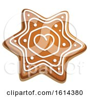 October 21st, 2018: Clipart Of A Christmas Snowflake Gingerbread Cookie With Icing Royalty Free Vector Illustration by Vector Tradition SM