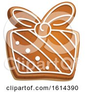 October 21st, 2018: Clipart Of A Christmas Gift Gingerbread Cookie With Icing Royalty Free Vector Illustration by Vector Tradition SM