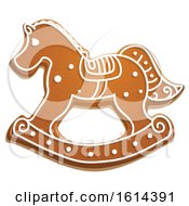 October 21st, 2018: Clipart Of A Christmas Rocking Horse Gingerbread Cookie With Icing Royalty Free Vector Illustration by Vector Tradition SM