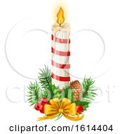 October 21st, 2018: Clipart Of A Christmas Candle Royalty Free Vector Illustration by Vector Tradition SM