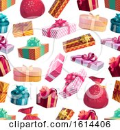 Clipart Of A Present Background Royalty Free Vector Illustration