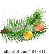 October 21st, 2018: Clipart Of A Christmas Tree Branch Royalty Free Vector Illustration by Vector Tradition SM