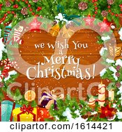 October 21st, 2018: Clipart Of A We Wish You A Merry Christmas Greeting Royalty Free Vector Illustration by Vector Tradition SM