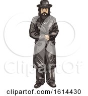 Clipart Of A Sketched Rabbi Royalty Free Vector Illustration by Vector Tradition SM
