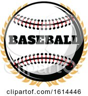 October 21st, 2018: Clipart Of A Baseball And Wreath Royalty Free Vector Illustration by Vector Tradition SM