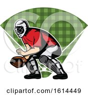 Clipart Of A Baseball Catcher Over A Field Royalty Free Vector Illustration by Vector Tradition SM